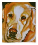 Yellow Lab Amazing Grace Fleece Blanket