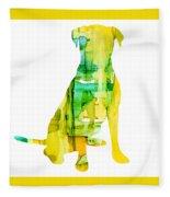 Yellow Lab Fleece Blanket