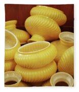Yellow Lampshades Fleece Blanket