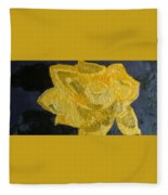 Yellow Lilac On The Pond Fleece Blanket