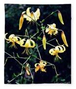 Yellow Lilies In Fort Tryon Park Fleece Blanket