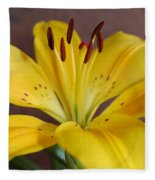 Yellow Lily 2 Fleece Blanket