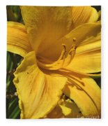 Yellow Lily Shines Brightly  Fleece Blanket
