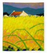 yellow Meadow Ireland Fleece Blanket
