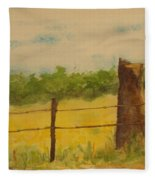 Yellow Meadow  Fleece Blanket