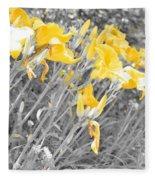 Yellow Moment In Time Fleece Blanket