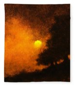 Yellow Moon Fleece Blanket