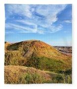 Yellow Mounds Fleece Blanket