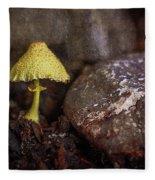 Yellow Mushroom Fleece Blanket