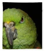 Yellow-naped Amazon Parrot Fleece Blanket