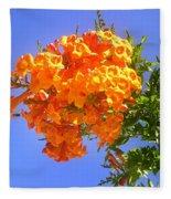 Yellow-orange Horn Flowers 01 Fleece Blanket