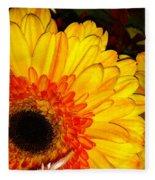 Yellow-orange Fleece Blanket