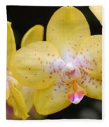 Yellow Orchid 2 Fleece Blanket