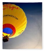Yellow Pages Balloon Fleece Blanket