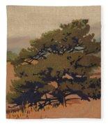 Yellow Pine Fleece Blanket