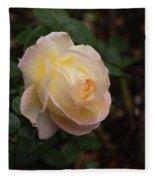Yellow/pink Rose Fleece Blanket
