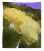 Yellow Pitch Fleece Blanket