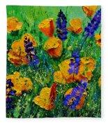 Yellow Poppies 560190 Fleece Blanket