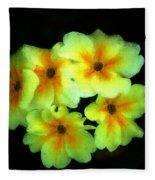 Yellow Primrose 5-25-09 Fleece Blanket