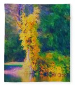 Yellow Reflections Fleece Blanket