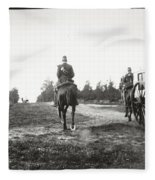 Yellow Riders On Horseback Near Arnhem Fleece Blanket