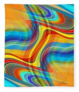 Yellow Road Fleece Blanket