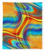 Yellow Road Fleece Blanket