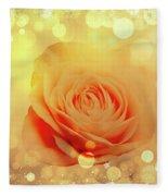 Yellow Rose And Joy Fleece Blanket