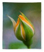 Yellow Rose Bud - Rose Bud Fleece Blanket