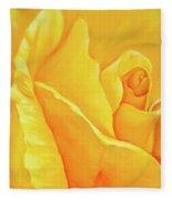 Yellow Rose Detail Fleece Blanket