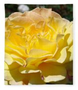 Yellow Rose Sunlit Summer Roses Flowers Art Prints Baslee Troutman Fleece Blanket