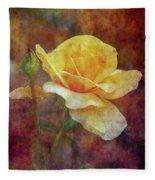 Yellow Rose With Raindrops 3590 Idp_2 Fleece Blanket