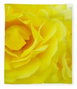Yellow Roses Art Prints Botanical Giclee Prints Baslee Troutman Fleece Blanket