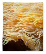 Yellow Sea Anemones Macro Fleece Blanket