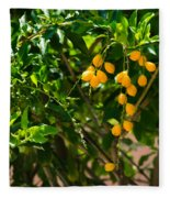 Yellow Seeds Fleece Blanket