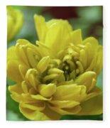 Yellow Shy Fleece Blanket