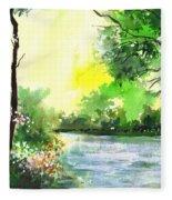 Yellow Sky Fleece Blanket
