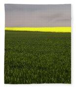 Yellow Skyline Fleece Blanket