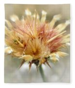 Yellow Star Thistle Fleece Blanket