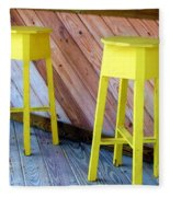 Yellow Stools Fleece Blanket