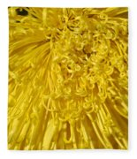 Yellow Strings Fleece Blanket