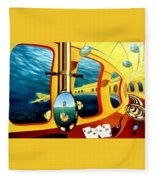 Yellow Submarine Fleece Blanket