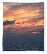 Yellow Sunset Fleece Blanket