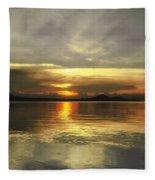 Yellow Sunshine Fleece Blanket