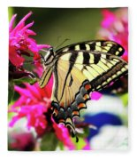 Yellow Swallowtail     Fleece Blanket