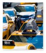 Yellow Taxis Fleece Blanket