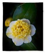 Yellow Tenderness Fleece Blanket