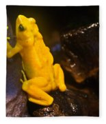 Yellow Tropical Frog Fleece Blanket