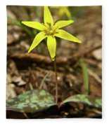 Yellow Trout Lily 1 Fleece Blanket
