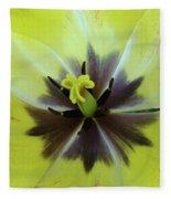 Yellow Tulip Macro Spring Floral Garden Baslee Troutman Fleece Blanket